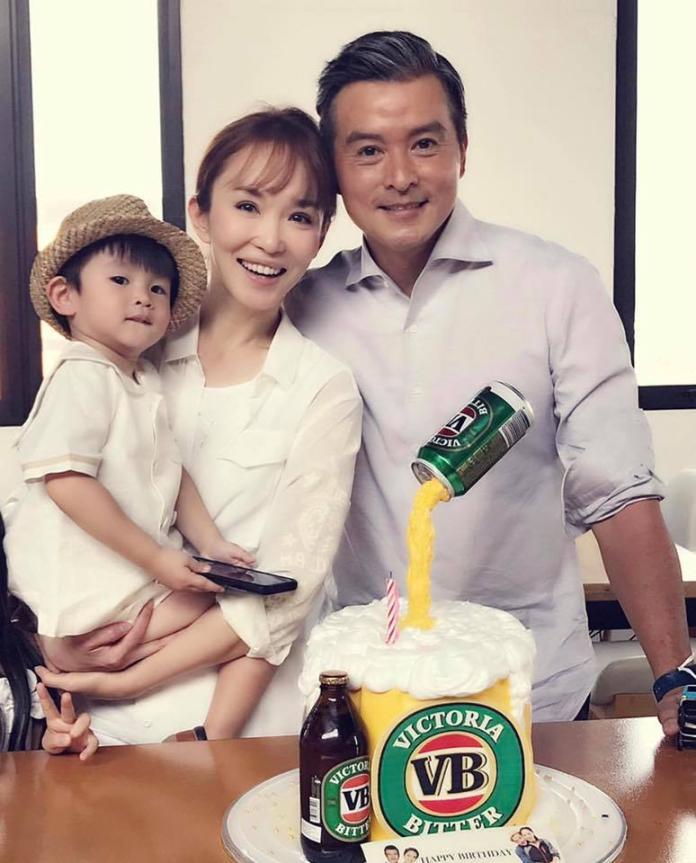 <br> ▲范文芳與李銘順結縭多年,育有一子。(圖/翻攝臉書)