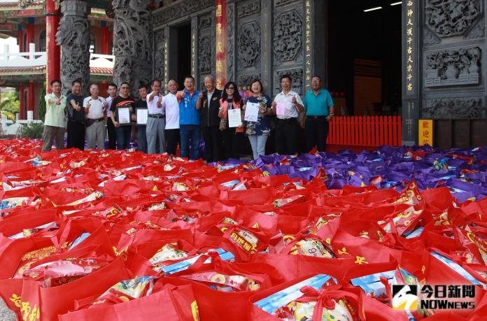 南聖宮普渡送愛心 樂捐8700公斤物資