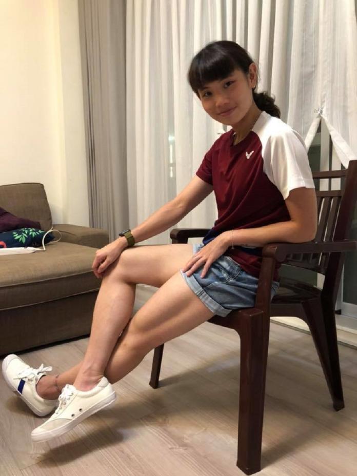 ▲戴資穎試穿新鞋。(圖/取自戴資穎臉書)