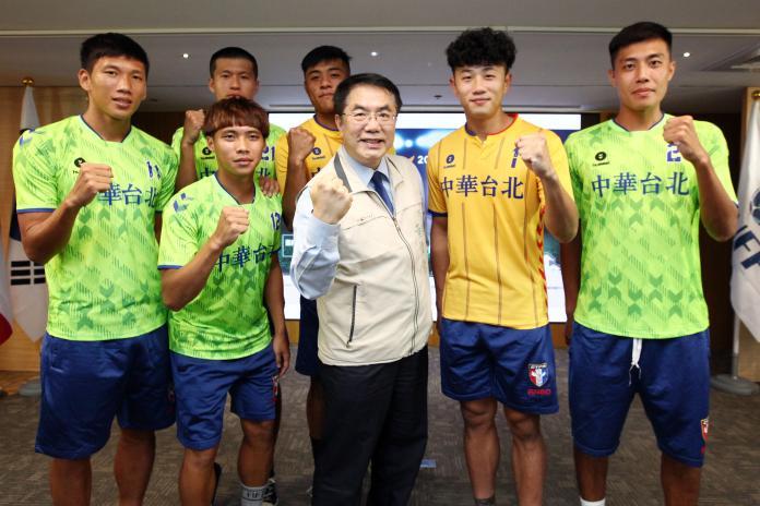▲台南市市長黃偉哲與中華台北選手代表。(圖/台南市政府體育處提供)
