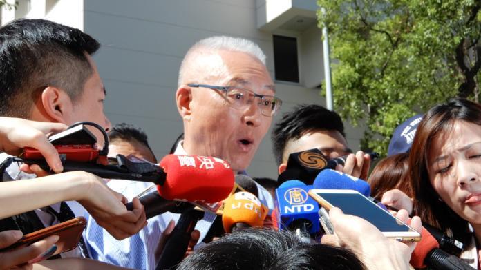 國民黨主席吳敦義。(圖 / 記者陳弘志攝)