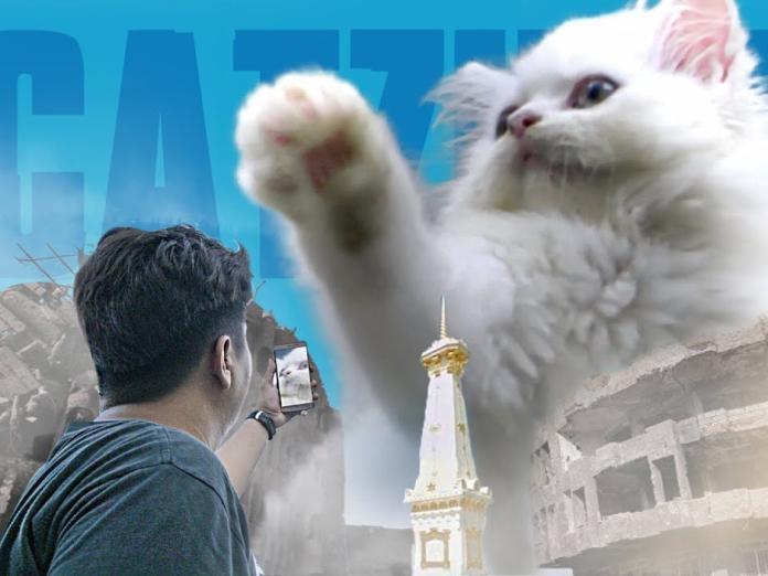 小萌貓誤食巨大化靈藥 竟化身喵吉拉攻占地球!