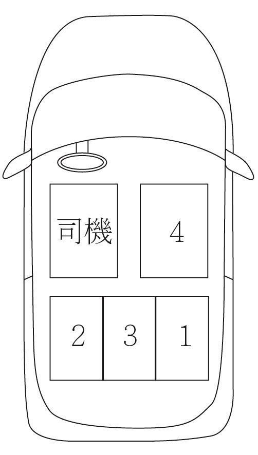 <br> ▲「若駕車的人是主人,那乘坐禮儀的順序就是:副駕駛座為 1 順位,右後方為 2,中間為 3,左後方為 4。若駕車的是司機,那乘坐禮儀會換成:右後方為第 1 順位,左後方是 2 ,中間是 3 ,副駕駛座變成 4 」 。(示意圖/翻攝自 PTT )