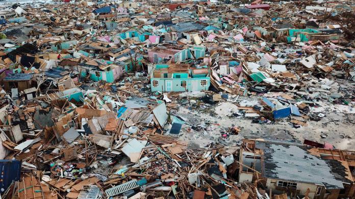 ▲多利安日前重創巴哈馬,幾乎將當地夷為平地。(圖/美聯社/達志影像)