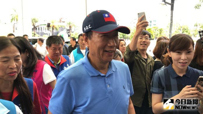 鴻海創辦人郭台銘發聲明退黨,正式與國民黨決裂