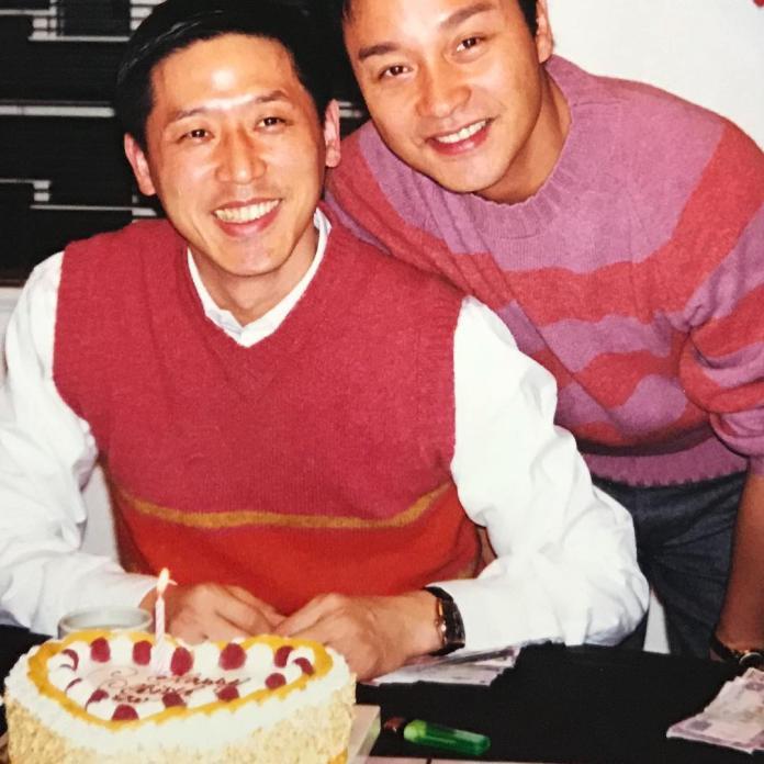 <br> ▲唐鶴德(左)和張國榮情誼深厚。(圖/翻攝IG)