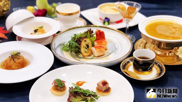 <br> ▲蟳味蟹宴佐以鵝肝、魚子醬等頂級食材入菜,時髦而口味獨特。(圖/記者陳美嘉攝)