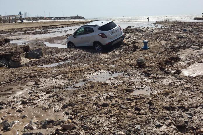 ▲西班牙東南部近日遭逢嚴重水患。(圖/美聯社/達志影像)