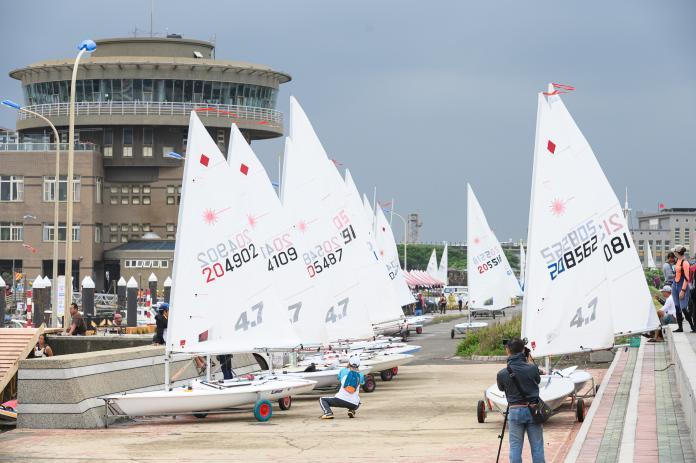 桃園全運會 帆船賽因風浪過大延至明天開賽