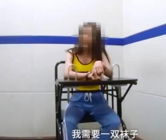 <br> ▲▼劉露在警局也大吵大鬧。(影片截圖)