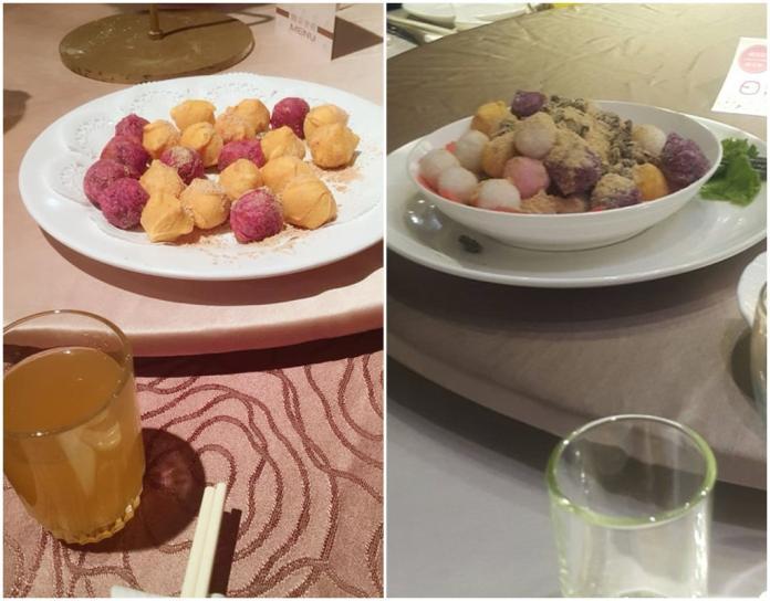 ▲婚宴傳統菜色炸湯圓。(圖/翻攝 PTT /爆廢公社)