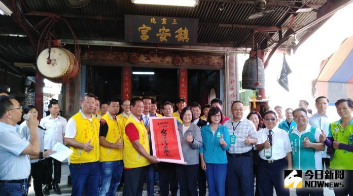總統贈北港鎮安宮 「惠澤廣溥」匾
