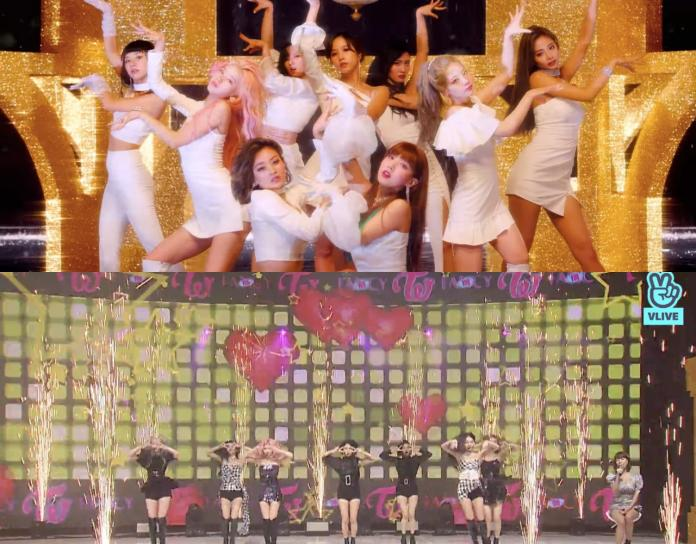 <br> ▲Mina雖有參與MV拍攝(上圖),但不參與打歌;志效不慎扭傷,日後將坐在椅子上表演(下圖右)。(圖/TWICE YouTube、VLIVE)