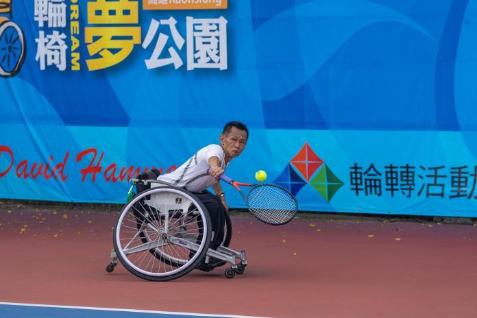 ▲我國輪椅網球選手廖克松。(圖/ 輪轉活動整合行銷工作坊提供)
