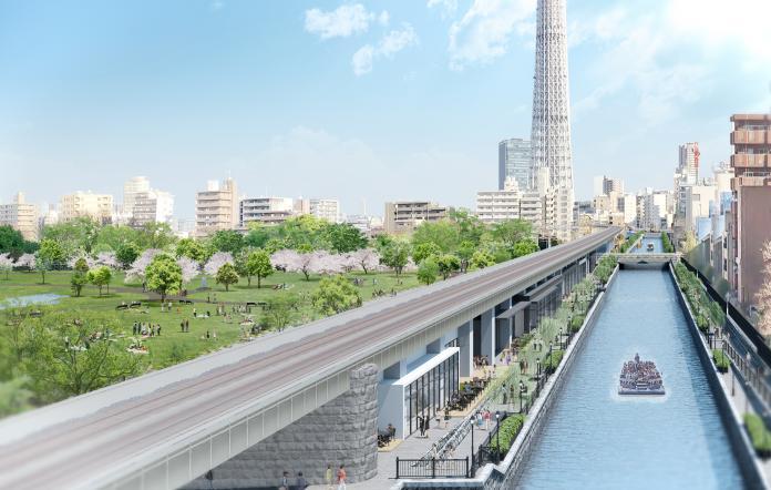 ▲晴空塔線淺草站跟東京晴空塔站中間的鐵道高架下,將打造全新複合式休閒設施,預計明年春天啟用,相信將成為最新觀光勝地。(圖/日商東武鐵道股份有限公司提供)