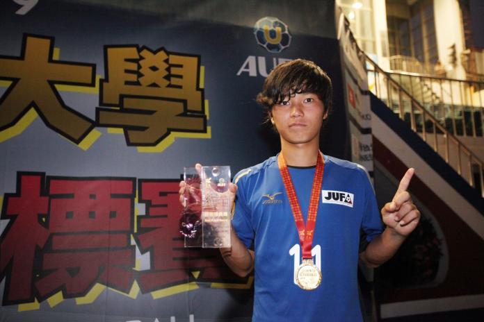 ▲2019亞洲大學足球錦標賽,日本隊11號山口卓己獲選為本屆最佳球員。(圖/大會提供)