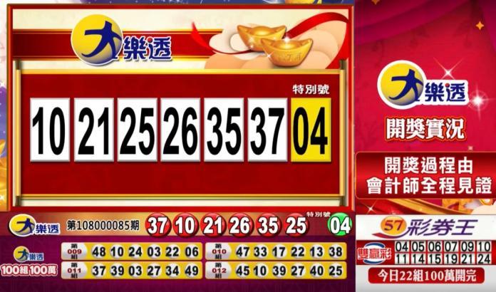 ▲大樂透再度開獎,頭獎上看5.1億元,並加開22組100萬元獎項。(圖/擷取自東森財經新聞)
