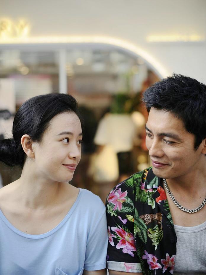 ▲李夢(左)在片中被蘇俊忠嚇到。(圖/海鵬)