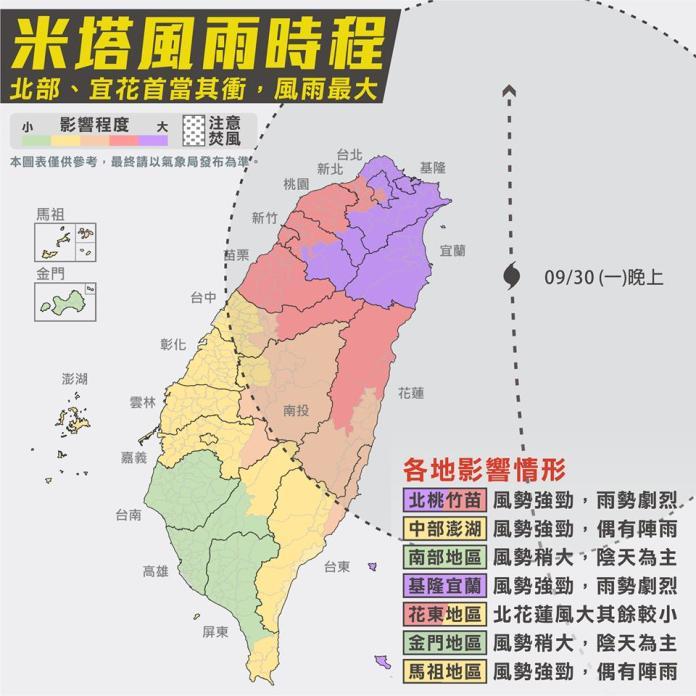 颱風論壇:米塔有機會升級中颱 周一晚間兩地方狂風暴雨