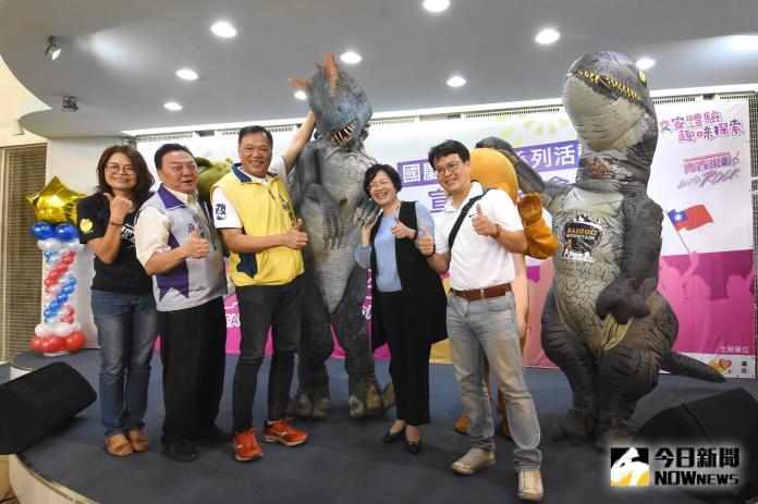 <br> ▲員林百果山探索樂園恐龍邀你也要來一起參加遊行。(圖/記者陳雅芳攝,2019.09.30)