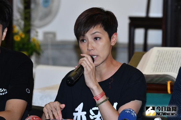 香港歌手何韻詩(圖/記者林柏年攝, 2019.9.29)