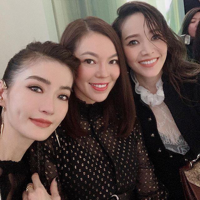 ▲謝金燕(左起)、曾馨瑩、侯佩岑難得同框。(圖/翻攝IG)