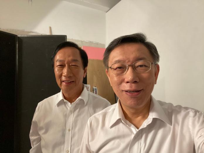 影/郭台銘挺黃健庭選2022台北市長? 柯:還三年不急啦