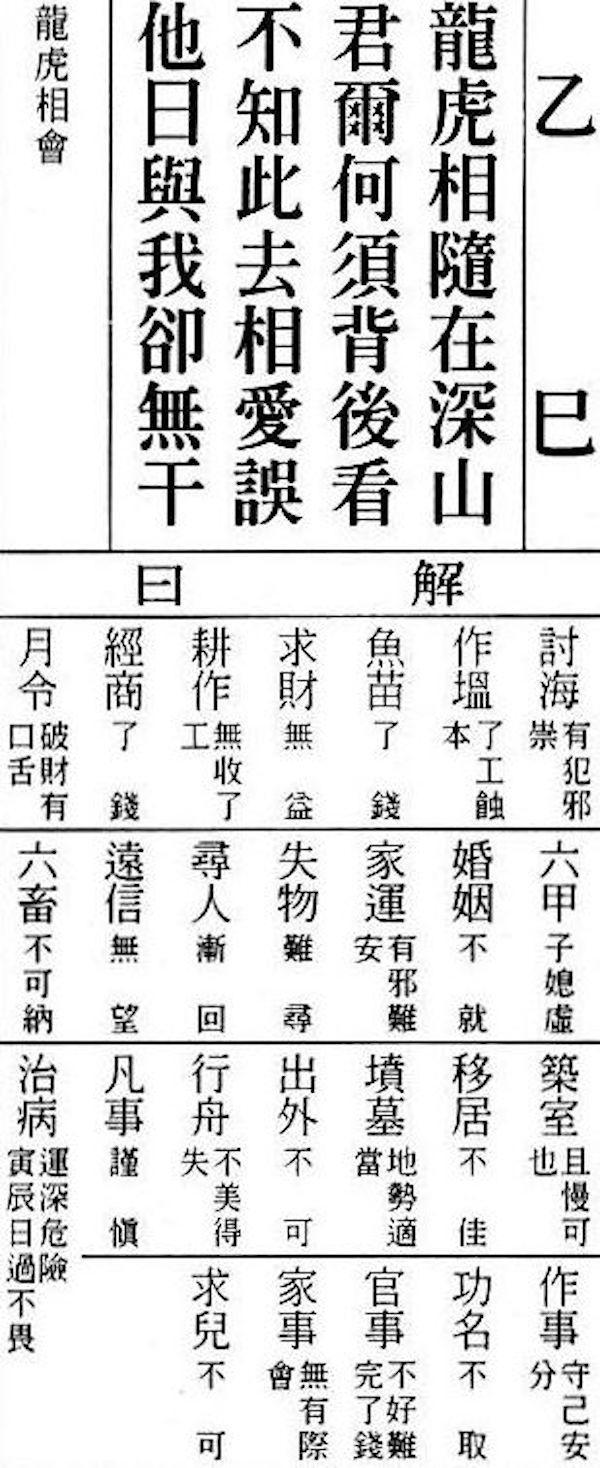 <br> ▲王馨怡表示,自己為韓國瑜卜出了「乙巳籤」,這是她卜卦多年第一次看到這麼差的卦(圖/翻攝自網路)