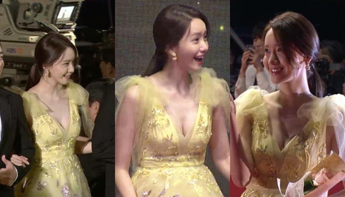 釜山影展/「少女時代」潤娥爆乳走紅毯 胸前後背全大開