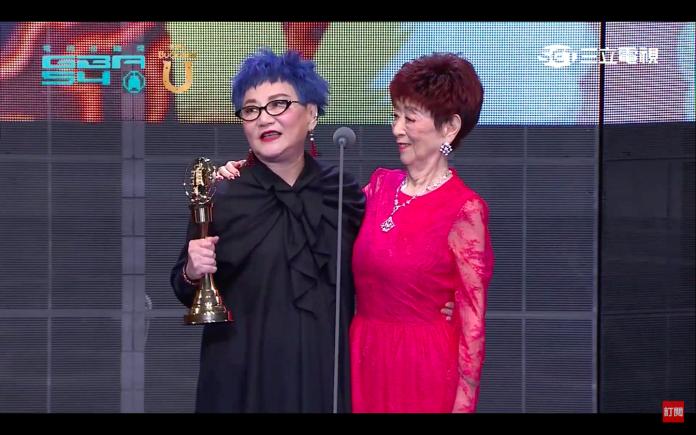 ▲張小燕獲得本屆金鐘獎「終身成就獎。」(圖/翻攝三立電視)