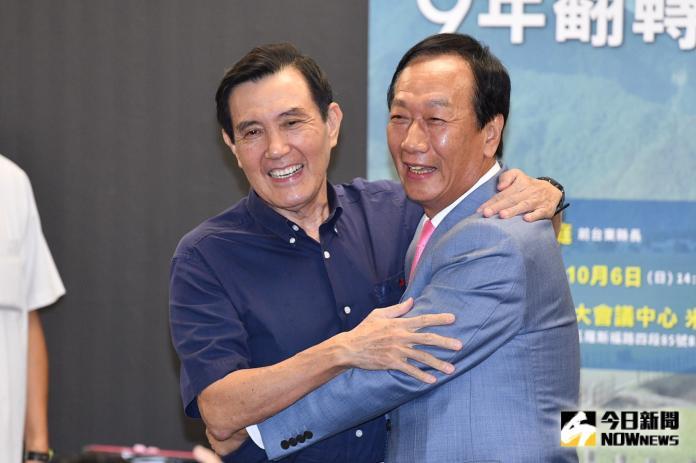 馬英九和郭台銘6日都出席前台東縣長黃健庭的演講活動,成為另類的「馬郭會」。(圖 / 記者林柏年攝)