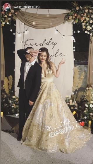▲林珈安昨與老公在陽明山舉辦婚禮。(圖、IG)