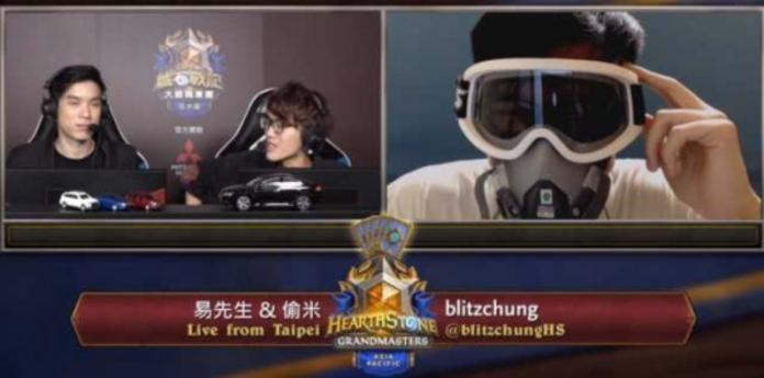 ▲綽號聰哥的香港電競選手 blitzchung ,在直播時竟戴面罩受訪,引發譁然。(圖/翻攝自香港連登論壇)