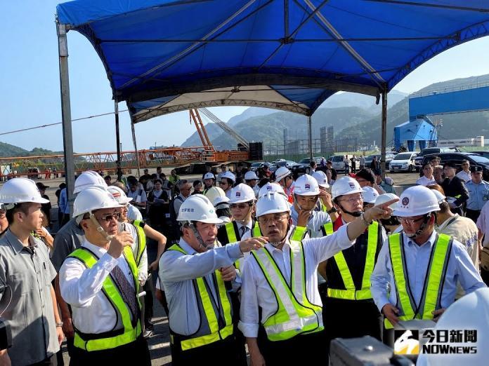 行政院長蘇貞昌今(7)日視察南方澳大橋斷裂後續處理情形