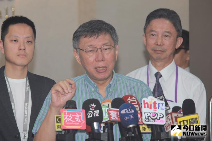 台北市長柯文哲接受媒體訪問。