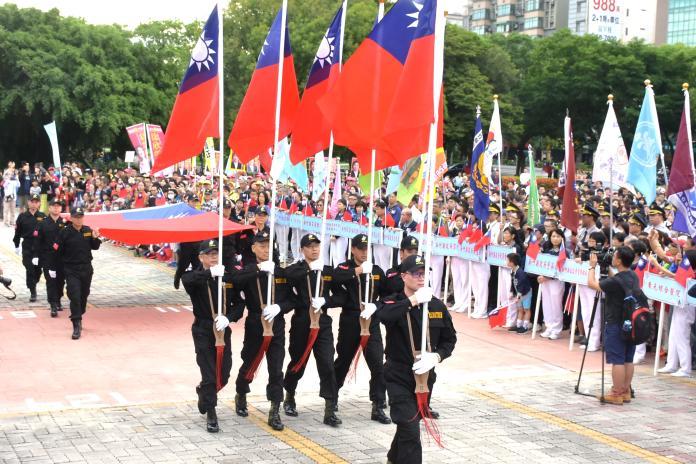 桃竹竹苗唯一官方場 新竹縣政府雙十國慶舉辦升旗典禮