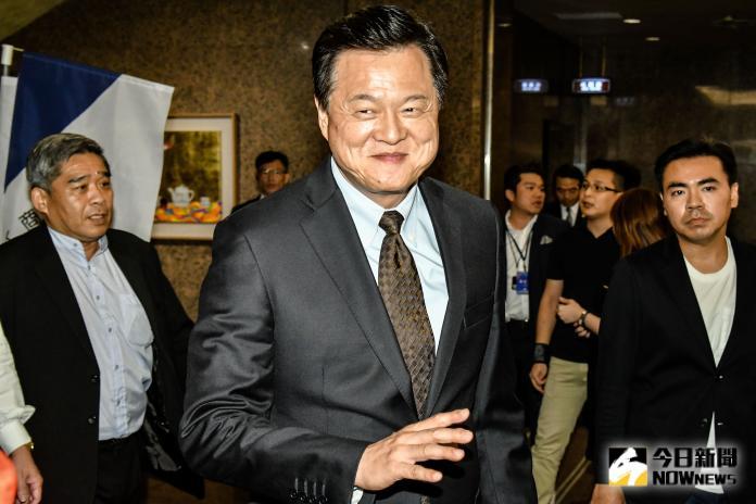 ▲前台北縣長周錫瑋出席全國工商界支持韓國瑜競選總統後