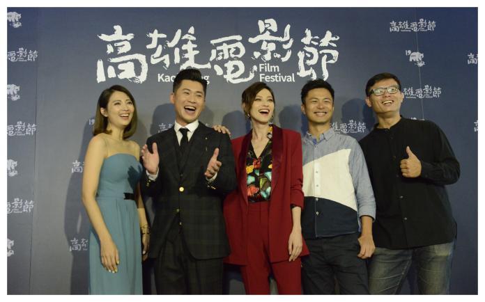 ▲《江湖無難事》劇組參加高雄電影節。左二黃迪揚,左三姚以緹。(圖/高雄電影節)