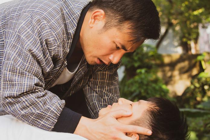 <br> ▲蔡昌憲笑稱傅子純像要親上來非常有愛。(圖 / 公視提供)