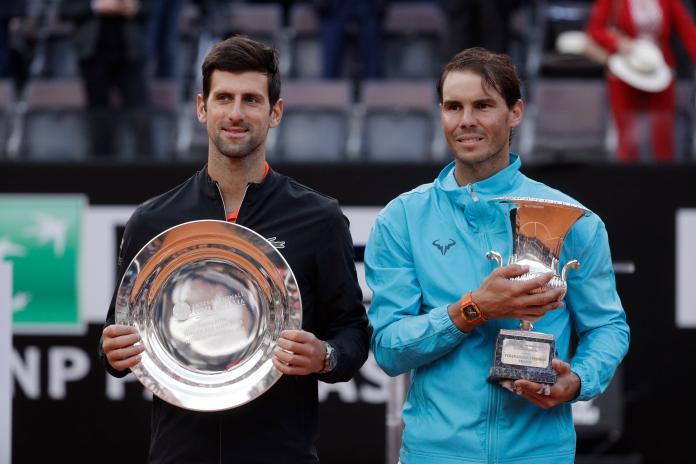 ▲塞爾維亞「喬帥」Novak Djokovic(左)、「西班牙蠻牛」Rafael Nadal(圖/美聯社/達志影像)