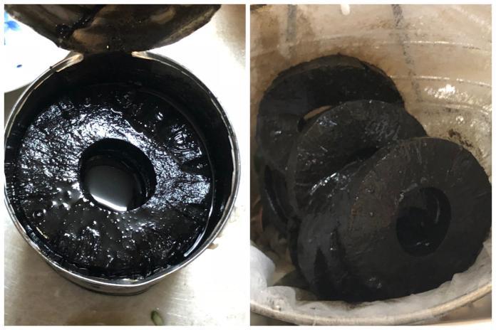<br> ▲過期 5 年的鳳梨罐頭,內容物黑得發亮。(合成圖/翻攝自 @nnsmr1781 推特)