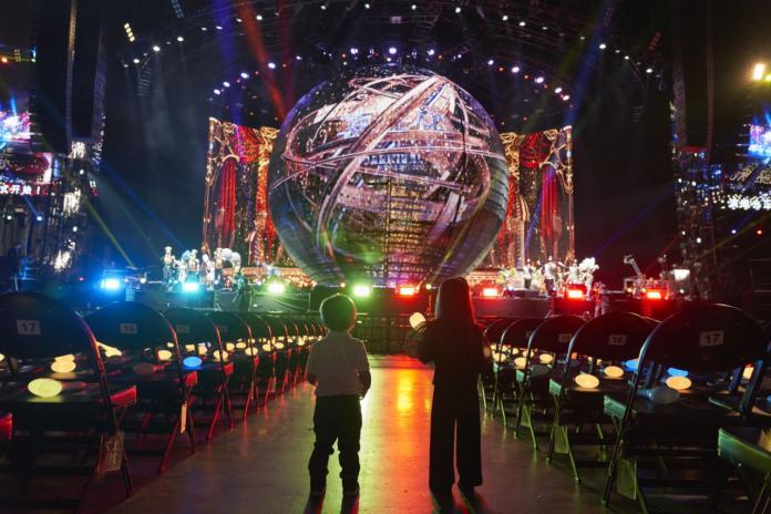 <br> ▲周杰倫在開唱前舉辦兒女專屬的演唱會。(圖/杰威爾提供)