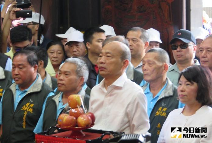 韓國瑜拚大選「第一次拜財神」 要讓台灣人過好日子