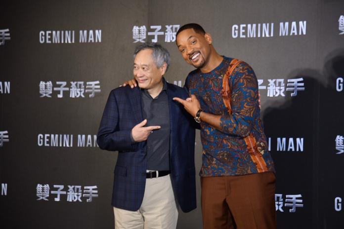 ▲李安(左)很感動威爾可以跟他一起訪台。(圖/記者林柏年攝)