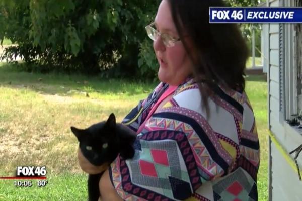 <br> 黑貓露娜的英勇事蹟登上當地新聞媒體(圖/FOX 46 Charlotte)