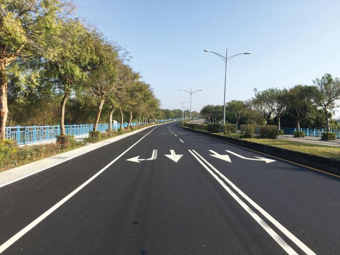 <br> ▲中市府目前已燙平超過300 條台中道路,圖為大雅區科雅路路平完工。(圖片提供/台中市政府)