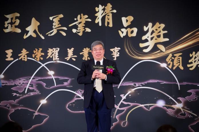 <br> ▲台北市生物技術服務商業同業公會理事長王孝慈致詞。(圖/公關照片)