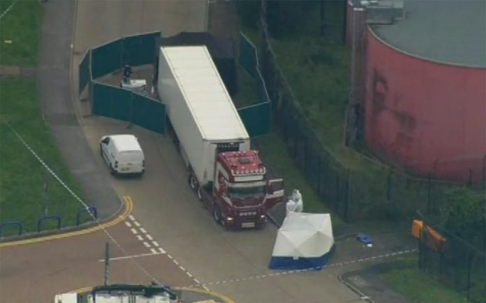 ▲英國近日的「貨櫃車藏屍案」震驚全球。(圖/美聯社/達志影像)