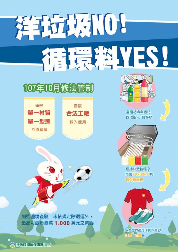 LINE傳台灣進口大量「洋垃圾」 環署澄清:去年已管制