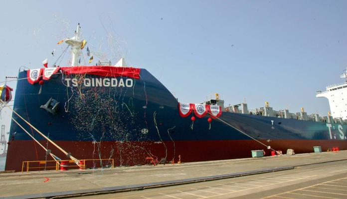 台灣國際造船舉行德翔海運貨輪<b>命名</b>